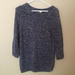 J Crew blue fleck sweater